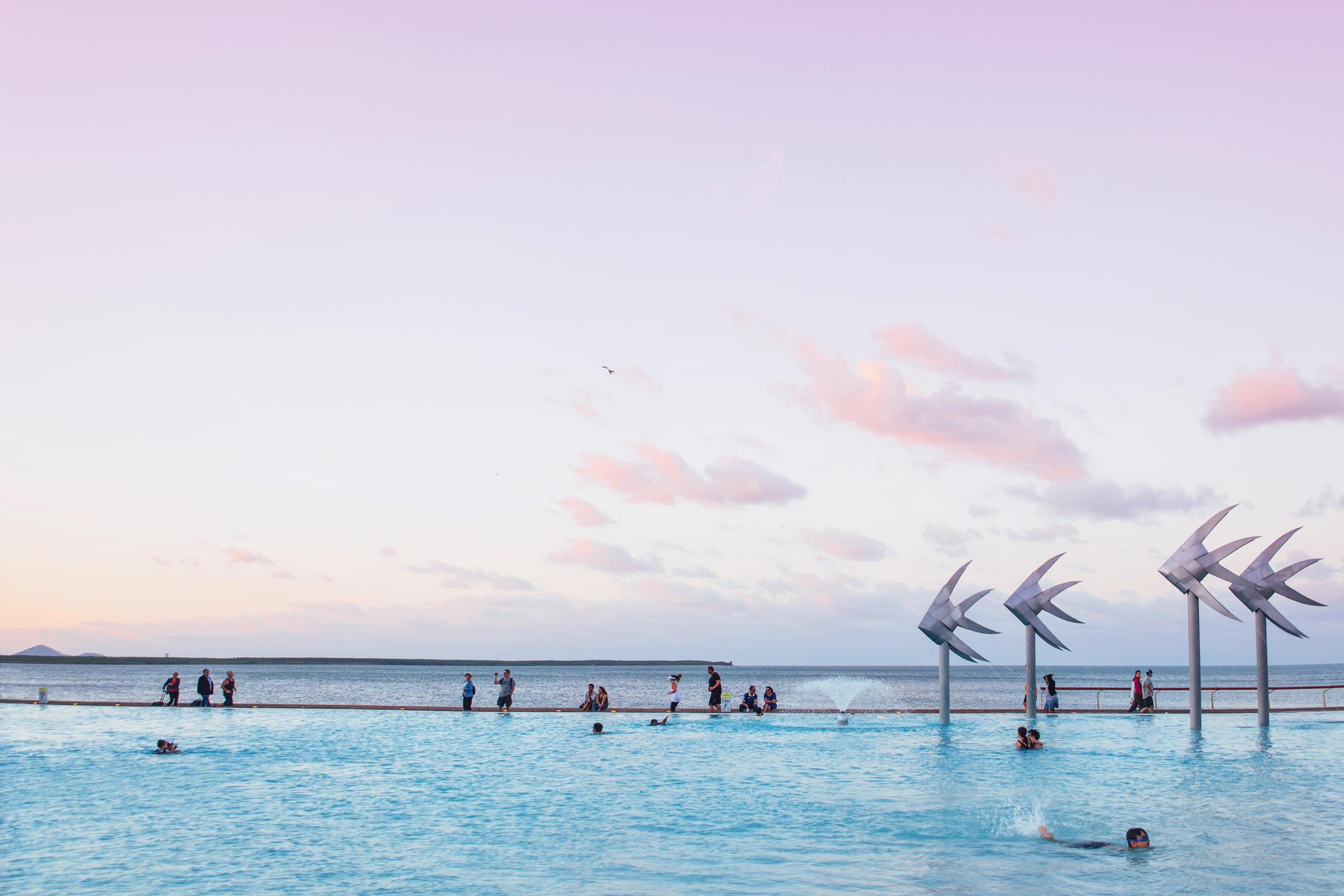 Sunset at Cairns Lagoon
