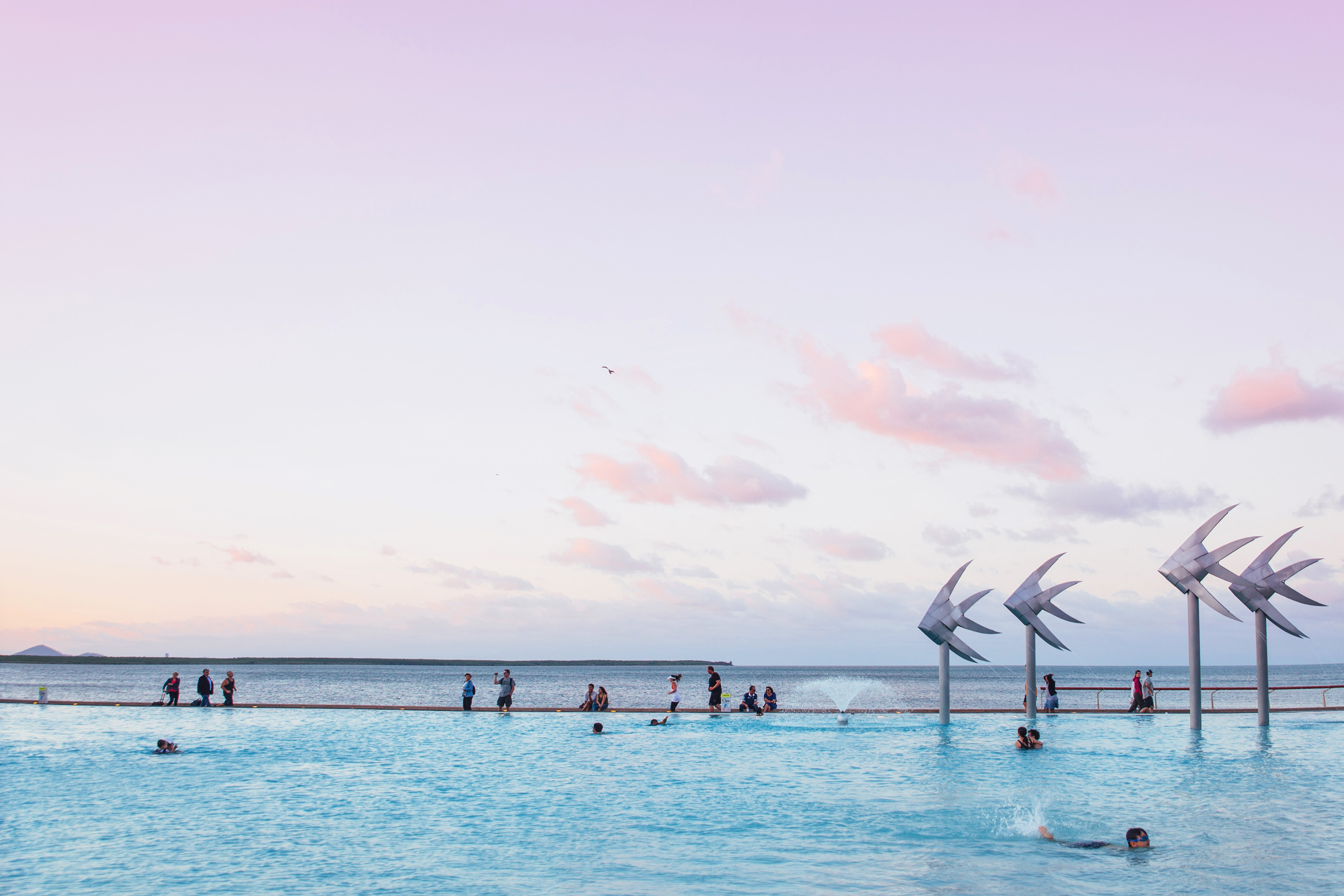 Sunset at Cairns Lagoon