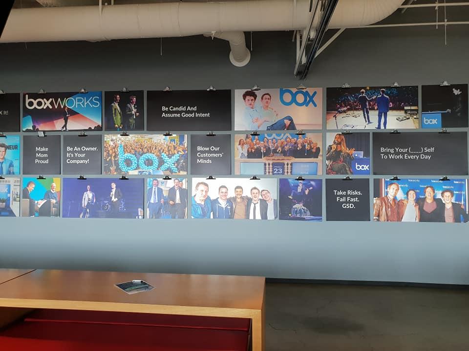 Box office wall